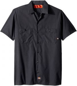 90f7ed56424d8b Dickies Occupational Workwear LS535CH M Polyester Cotton Men s Short Sleeve  Industrial Work Shirt