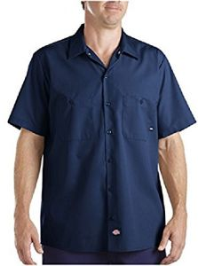 24fe9ca96 Dickies Occupational Workwear LS535NV 2XL Polyester/Cotton Men's Short  Sleeve Industrial Work Shirt, 2X-Large, Navy Blue