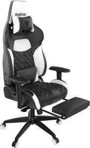 Incredible Gamdias Multi Color Rgb Gaming Chair High Back With Footrest Adjusting Headrest And Lumbar Support Black White Achilles P1 Black White Alphanode Cool Chair Designs And Ideas Alphanodeonline