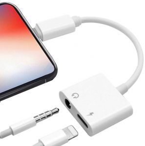 Lightning Jack Headphone Adaptor Charger Compatible with iPhone 8/8 Plus /7/7 Plus/iPhone X/XS/XS Max/XR Earphone Adapter Headphone Aux Audio & Connector ...