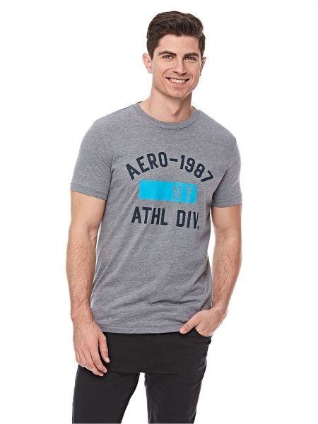 729f61452dcf35 Aeropostale Graphic T-Shirts For Men - Grey