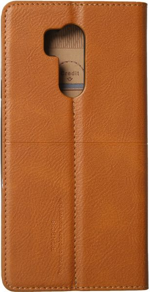 online retailer fa72f b06d1 Rich Boss Leather Flip Wallet Case For LG G7 ThinQ - Camel