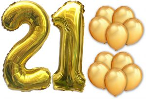 12pcs Set 40 Number Rose Gold Balloon Balloons Decorations Happy Birthday Banner 12 21 Party