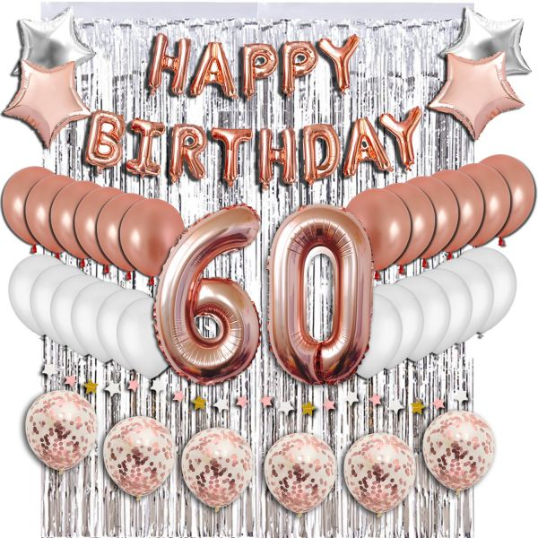 60th Birthday Decorations Party Supplies Sweet 60 Balloons