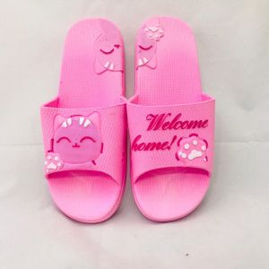 589be3893012c GIRLS RUBBER SLIPPERS WITH CUTE CARTOON CAT