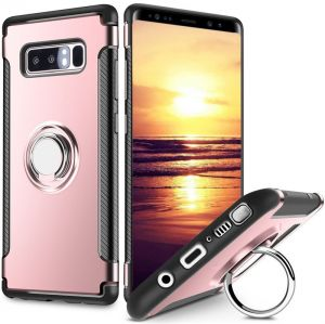 Samsung Galaxy S8 Plus armor Case Dual Layer Rugged Hard Back Cover with 360 Ring Grip Holder Kickstand