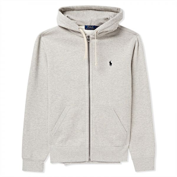 Polo Ralph Lauren Classic Fleece Hoodie Jacket For Men M Grey