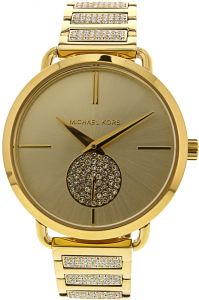 23a4003ee318 Michael Kors Women s Portia MK3852 Gold Stainless-Steel Swiss Parts Quartz  Fashion Watch
