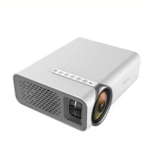 Ozone YG520 Mini LED Home Theater Projector with 1080P 1200 Lumens and Mobile Mirroring Via HDMI - White