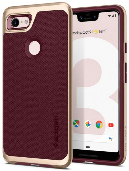 finest selection 81eae e2a32 Spigen Google Pixel 3 XL Neo Hybrid cover / case - Burgundy with Gold Frame