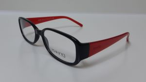 f909bc5f4c9f Swing Eyewear Oval Glass Frame for Women - Red   Black