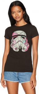 6c53aa3df2c64 Star Wars Women s Stained Storm Trooper Crew Neck Graphic T-Shirt