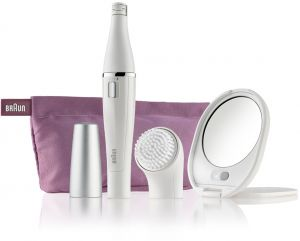 Braun Face SE830 Facial Epilator   Cleanser + Lighted Mirror And Beauty  Pouch e362bb4b82d