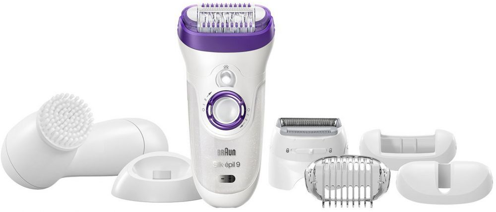 Braun Silk-épil 9 9-579 Bonus edition - Wet&Dry Cordless epilator with 7 extras including a facial cleansing brush