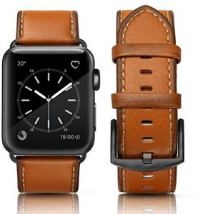 53e21c588a2 SWEES Leather Band Compatible Apple Watch 42mm 44mm