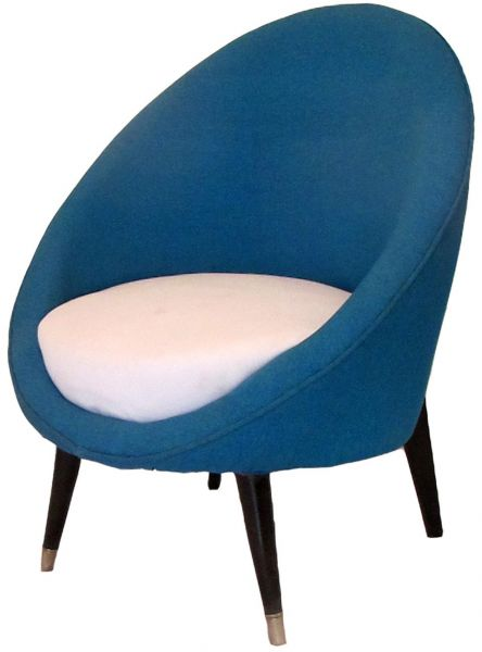 Mid Century Egg Shaped Chair