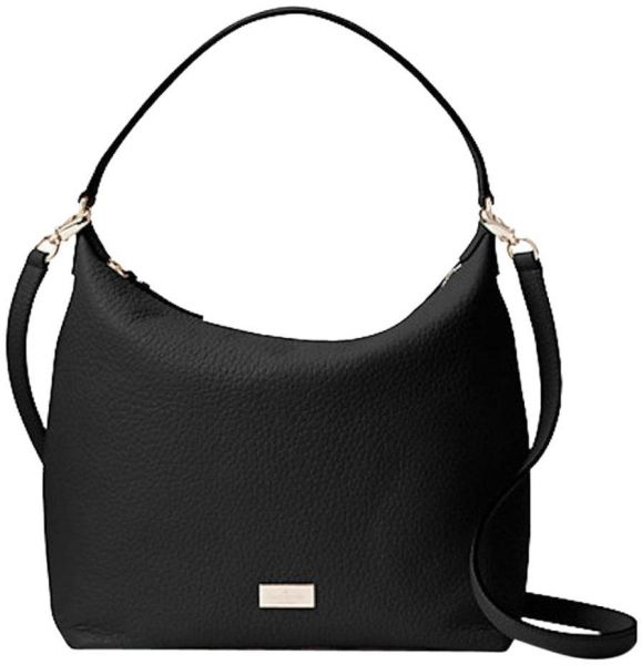 1e7ce1b522 Kate Spade New York WKRU4620-001 Kaia Prospect place Black Leather Shoulder  Bag