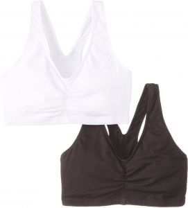073971b7d6564 Hanes Women s Stretch Cotton Low Imact Sports Bras - 2 Pack