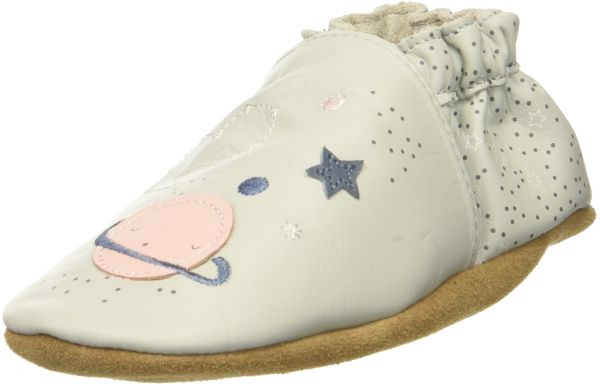 Robeez S Over The Moon Crib Shoe Grey Violet 6 12 Months M Us Infant Souq Uae