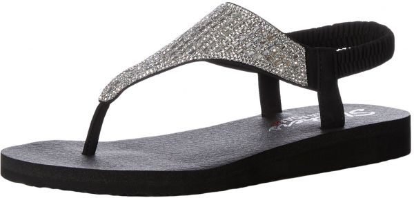 eaf1ab5fb54b Skechers Cali Women s Meditation-Rock Crown Flat Sandal