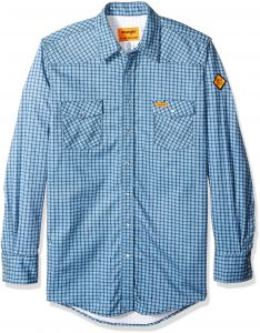 0f3bc58e7d68 Wrangler Men s Big and Tall Flame Resistant Western Two Pocket Snap Shirt