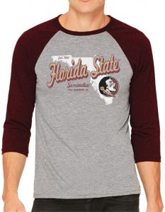 Medium Levelwear LEY9R NCAA Florida State Seminoles Adult Women Entice Crested V-Neck Tee Black