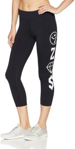 cadcf2c756be Zumba Women s Wide Waistband Print Capri Legging Compression
