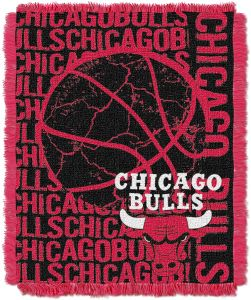 48 x 60 Multi Color Officially Licensed NBA Double Play Jacquard Throw Blanket
