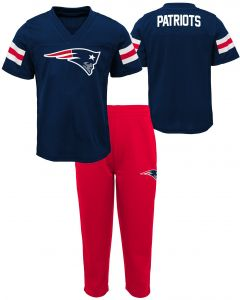7f3572411 NFL by Outerstuff NFL New England Patriots Kids Training Camp Short Sleeve  Top   Pant Set Dark Navy