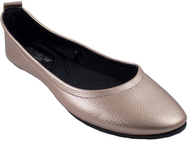 895c4e960f7 Monrow Rose Gold Ballerina Shoes For Women