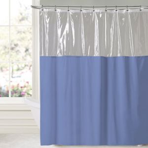 Sweet Home Collection Premium Quality Tablecloth Blue 10 Gauge Vinyl Shower Curtain 72 X