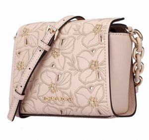 3f45784e89d5 Michael Kors Sofia Flower Embroidered Stud Ballet Pink Small Crossbody