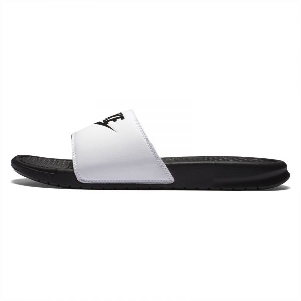 wholesale dealer 017ff d225d Nike Benassi JDI Slide Slippers for Men - Black White
