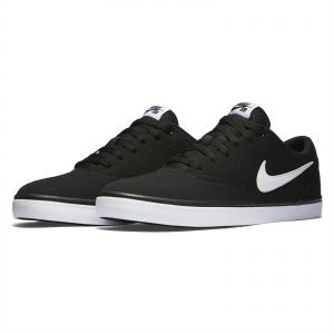 ba704ed12bf4 Nike SB Check Solar Canvas Sports Sneakers for Men - Black White