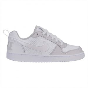 best website f6fac 4e39f Nike Court Borough Low Gs Basketball Shoes for Kids - White Vast Grey