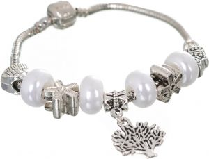 Glass Beads Pandora Elements Bracelet For Women Love Gift Fashion Charms Jewelry Silver Buy Online Bracelets At Best Prices In Egypt Souq Com