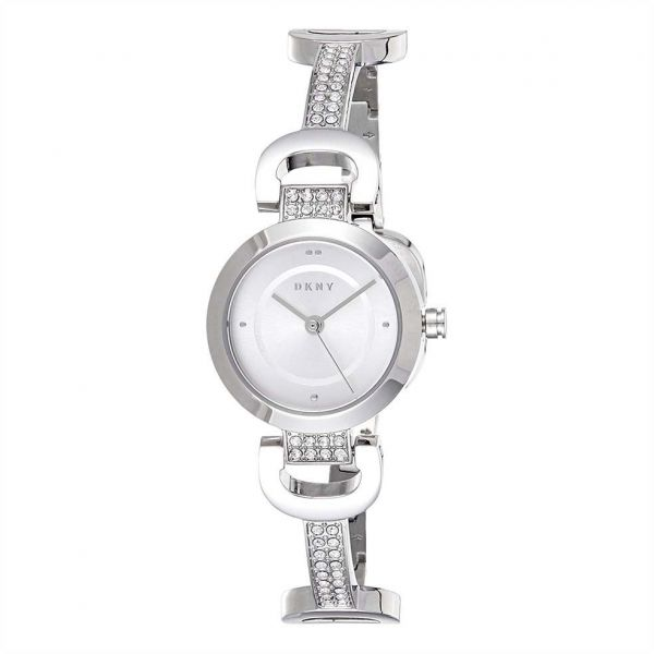 fbd8c6f63 DKNY Women's White Dial Stainless Steel Band Watch - NY2751