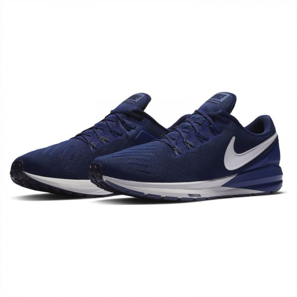 online store df8fd 01b66 Nike Air Zoom Structure 22 Running Shoes for Men - Blue Void/Vast Grey Size  - 44 EU