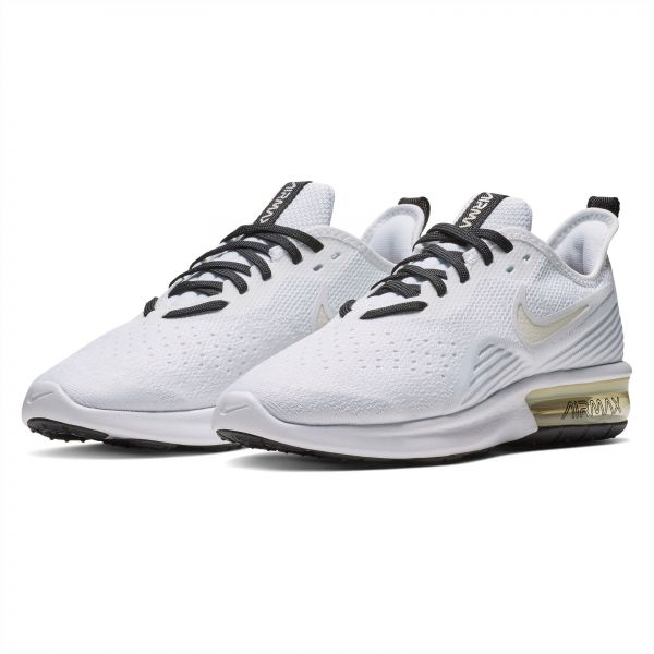 7021f7611aec Nike Air Max Sequent 4 Running Shoes for Women - White Pale Ivory-Off White