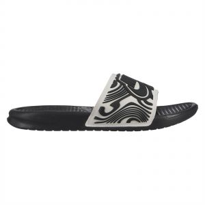50d6759a41ff Nike Benassi JDI SE Slide Sandals for Men - White Black