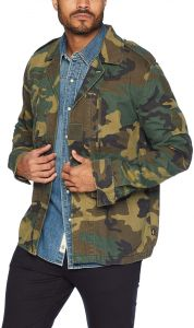 online store 2c182 a9001 Alpha Industries Men's F-2 French Field Coat Deco Mid Length Zip, Woodland  Camo, Small