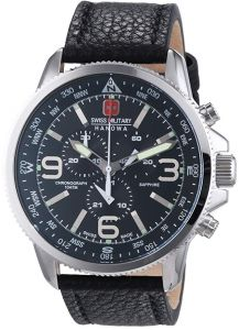 e76b4731c Swiss Military Casual Watch , Leather Band , Analog for Men - W  S6-4224.04.007