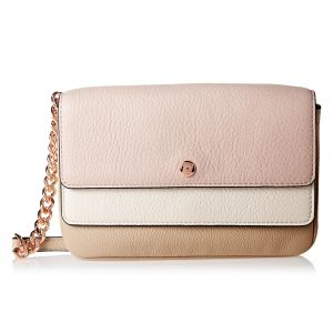 41cec2e2040b Michael Kors 32S8TF5C2T 995 Triple Flap Crossbody Bag for Women - Leather,  Pink