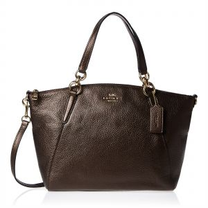 3b602221ce81 Coach F29867 BRONZE light gold Small Kelsey Satchel Bag for Women -  Leather