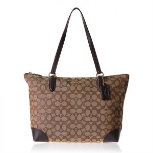 f6a697350435 Coach F29958 Signature Zip Tote Bag for Women - Leather