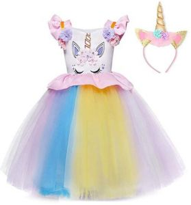 8d100592afe4f Flower Girls Unicorn Costume Kids Pageant Princess Party Dress Princess for  Baby Girls & Kids