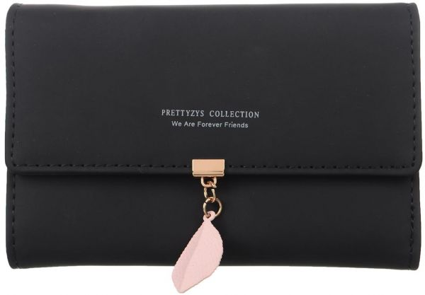 fc98732092af Pretty zys Collection Genuine Leather Long Clutch Lady's Wallet Fashion  Female Purse - wallets for women - Black
