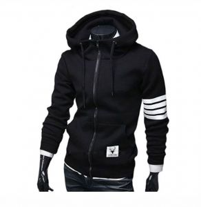 7971f4d5a Pullover Hoody Sports Men Hoodies Winter Drawstring Zipper Hooded  Sweatshirt Male Long Sleeve Pocket Pullover Hoodie Coat,black