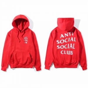 8108a7ade08f Anti Social Social Club Classic Hoodie Red Assc Hooded Sweatshirt For Girl  And Women