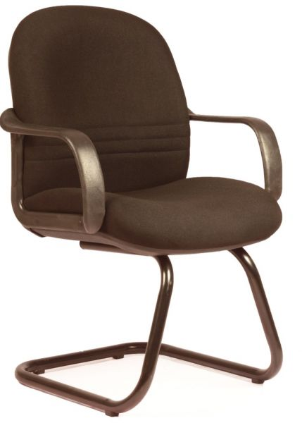 Low Back Sigma Visitor Office Chair In Black Fabric From Leaders